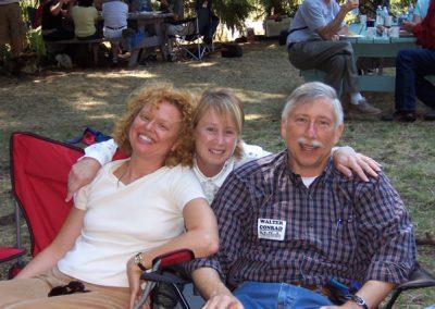 Linda Perata, Nancy and Walter Conrad