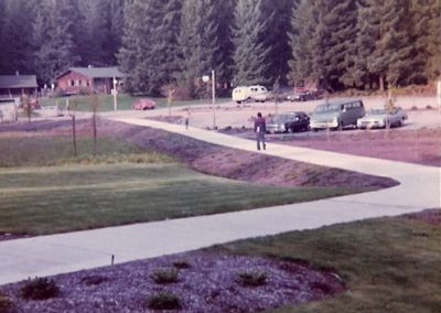 1976 Classroom to Dining Hall view