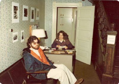 David DiYanni and Mary Niderost in the Shiloh Office